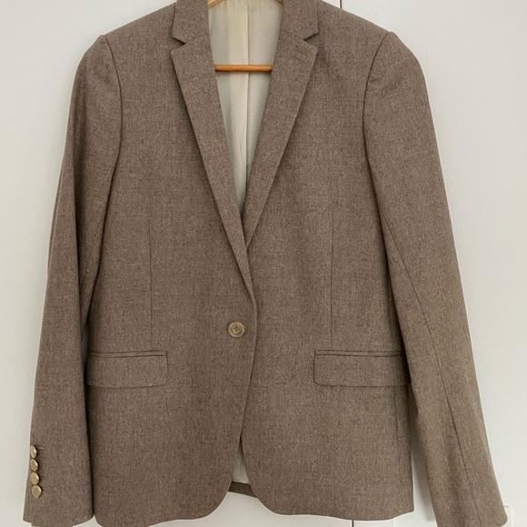 The Kooples Jackets & Blazers - THE KOOPLES Cream/Light brown Wool Jacket 36 / S